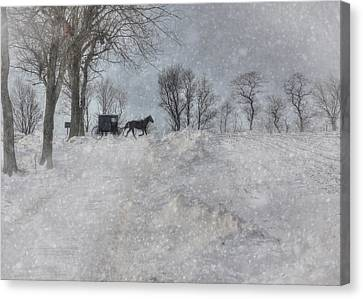 Happy Holidays From Pa Canvas Print by Lori Deiter