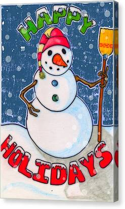 Happy Holidays Canvas Print by Jame Hayes
