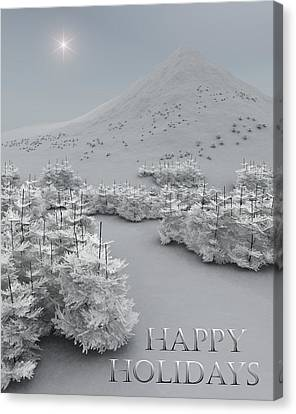 Happy Holidays Canvas Print by Richard Rizzo