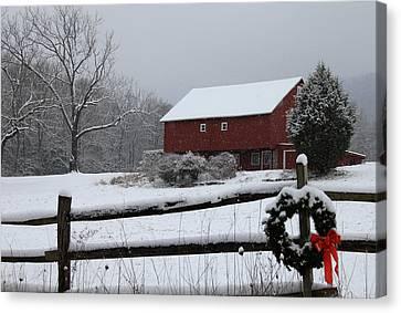 Happy Holidays Canvas Print by Sharon Batdorf