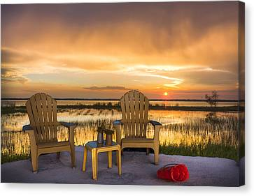 Happy Hour At The Lake Canvas Print