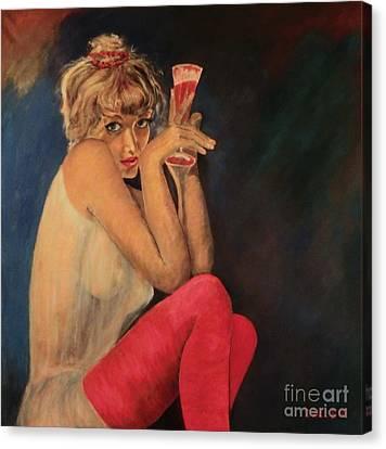 Happy Hour Canvas Print by Dagmar Helbig