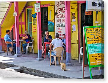 Happy Hour In Belize Canvas Print