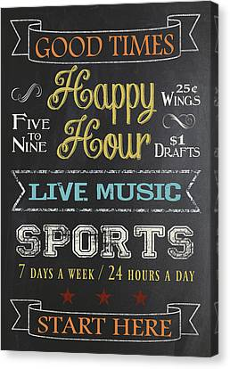 Happy Hour Canvas Print by Jaime Friedman