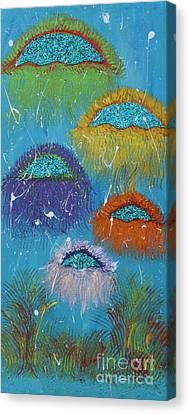 Happy Jellyfish Canvas Print
