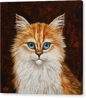 Happy Kitty Canvas Print by Crista Forest