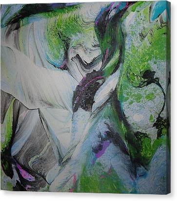 Canvas Print featuring the painting Happy by Mike Breau