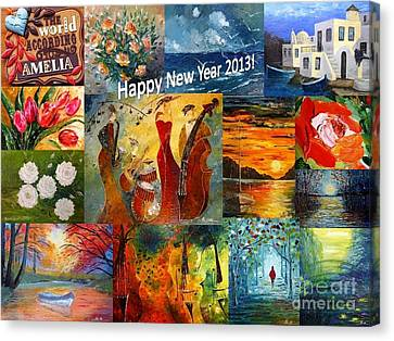 Happy New Year 2013 Canvas Print by AmaS Art