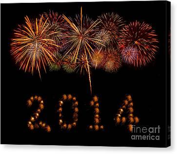 Happy New Year 2014 Canvas Print