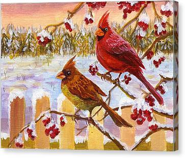 Canvas Print featuring the painting Happy New Year 2014 by Ping Yan