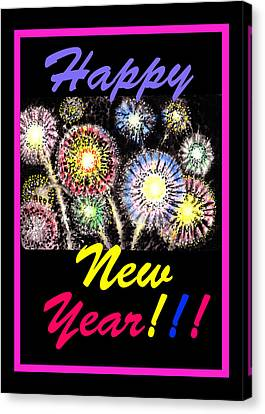 Happy New Year Canvas Print by Irina Sztukowski