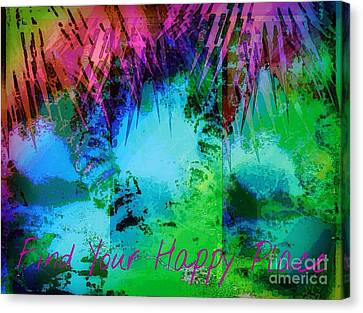 Happy Place 1 Canvas Print by Michelle Stradford