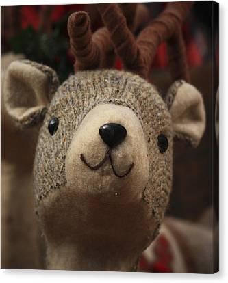 Happy Reindeer Canvas Print by Patrice Zinck