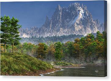 Happy River Valley Canvas Print by Daniel Eskridge