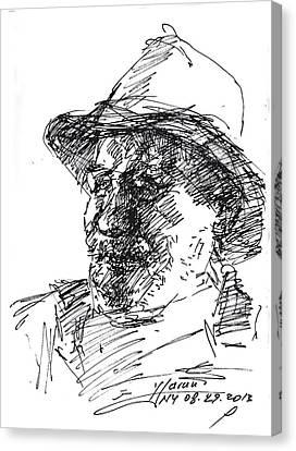 Happy Roger Canvas Print by Ylli Haruni