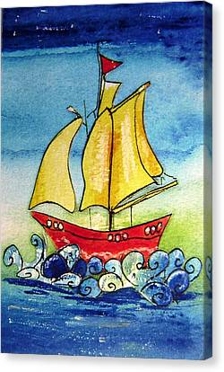 Happy Sailing Ship  Canvas Print