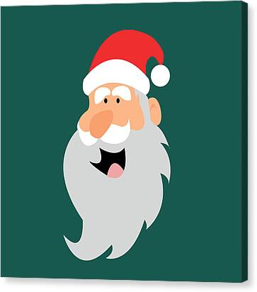 Happy Santa Canvas Print by Kenneth Feliciano