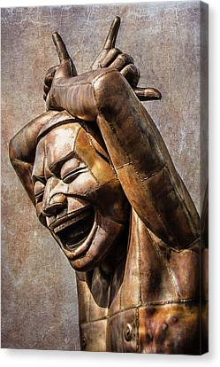 Happy Sculpture Canvas Print by Marion McCristall