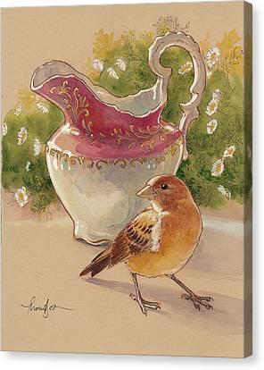 Happy Sparrow 7 Canvas Print