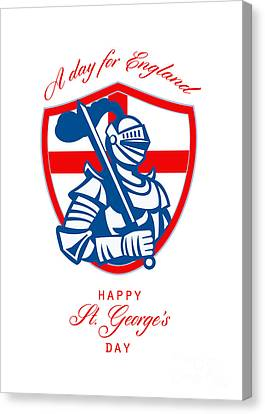 St George Day Canvas Print - Happy St George A Day For England Greeting Card by Aloysius Patrimonio
