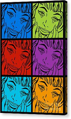 Happy Tears No.2 Canvas Print by Bobbi Freelance