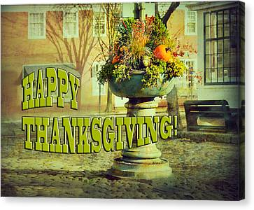 Happy Thanksgiving Card Canvas Print by Marianne Campolongo