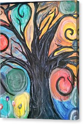 Happy Tree Canvas Print by Sarah Dufner