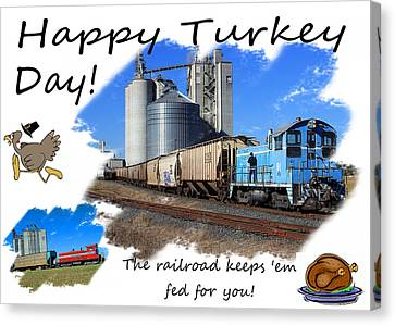 Feed Mill Canvas Print - Happy Turkey Day by Joseph C Hinson Photography