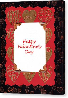 Canvas Print featuring the photograph Happy Valentines Day Card by Vizual Studio