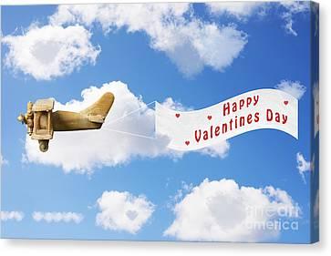Happy Valentines Day Canvas Print by Amanda Elwell