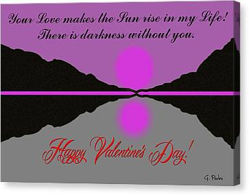 Happy Valentine's Day Canvas Print by George Pedro