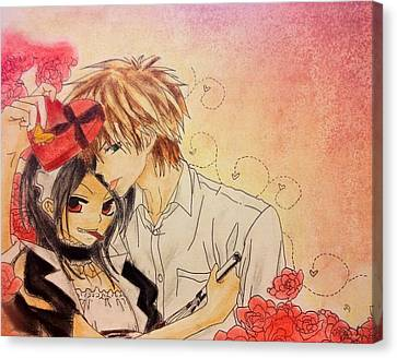 Happy Valentines Day Misa-chan Canvas Print