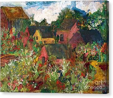 Happy Village Canvas Print by Deborah Montana