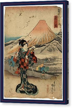 Hara No Zu, View Of Hara. Between 1837 And 1844 Canvas Print