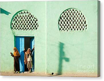 Harar Ethiopia Old Town City Mosque Girls Children Canvas Print