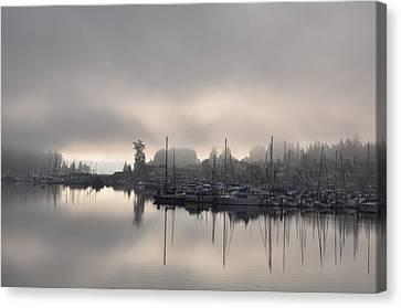 Harbor At Dawn 2 Canvas Print