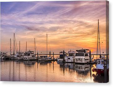 Harbor At Jekyll Island Canvas Print by Debra and Dave Vanderlaan