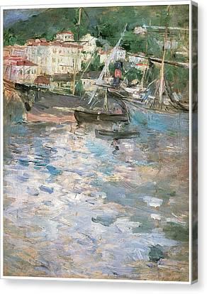 Harbor At Nice Canvas Print by Berthe Morisot