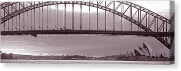 Harbor Bridge, Pacific Ocean, Sydney Canvas Print by Panoramic Images