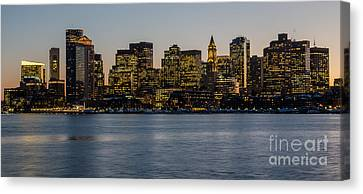 Harbor City Canvas Print by Stephen Flint