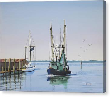 Harbor Days End Canvas Print