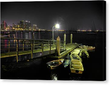 Dinghies Canvas Print - Harbor Dinghies by Peter Tellone