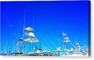 Augustine Canvas Print - Harbor Happy Hour - Boat Art By Sharon Cummings by Sharon Cummings