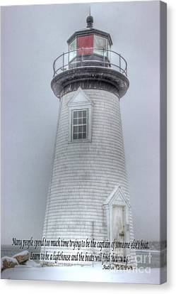 Harbor Light Canvas Print by Alicia Sprowl