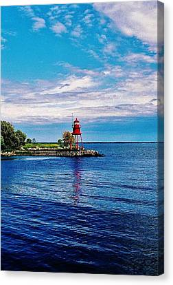 Canvas Print featuring the photograph Harbor Light by Daniel Thompson