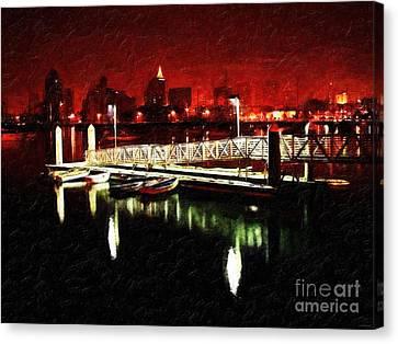 Harbor Lights Canvas Print