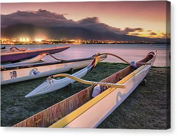 Harbor Lights Canvas Print by Hawaii  Fine Art Photography