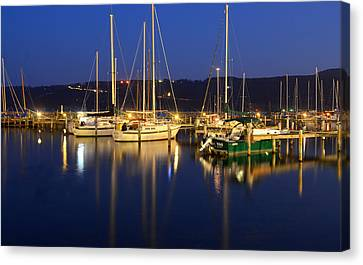 Harbor Nights Canvas Print by Frozen in Time Fine Art Photography