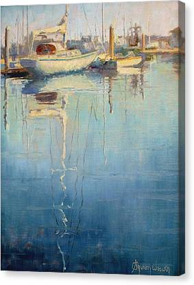 Harbor Reflection Canvas Print by Sharon Weaver