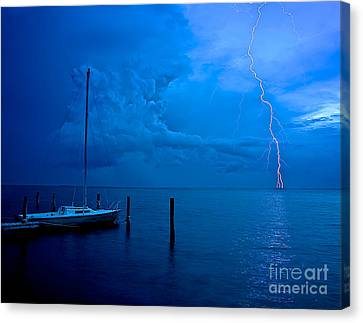 Harbor Storm Canvas Print by Mark Miller